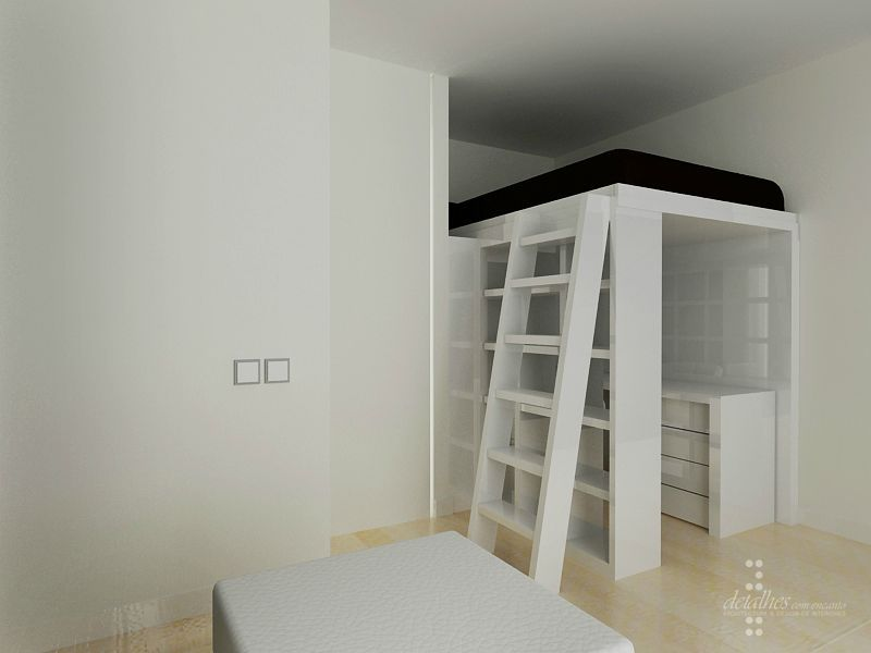 chambre ado espace mezzanine projet en 3d stinside architecture d 39 int rieur. Black Bedroom Furniture Sets. Home Design Ideas