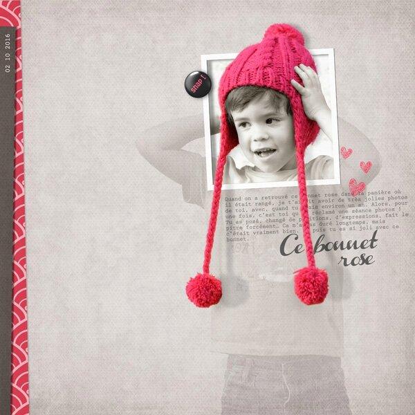 16-10 ce bonnet rose