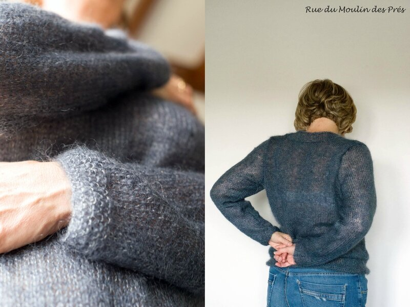 Pull Mohair gris 04