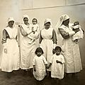 poor french childdren in a hospital ward 1918