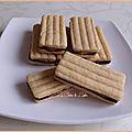 Bâtonnets chocolat & beurre de cacahuète