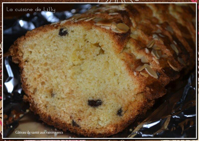 gâteau de santé aux raisins