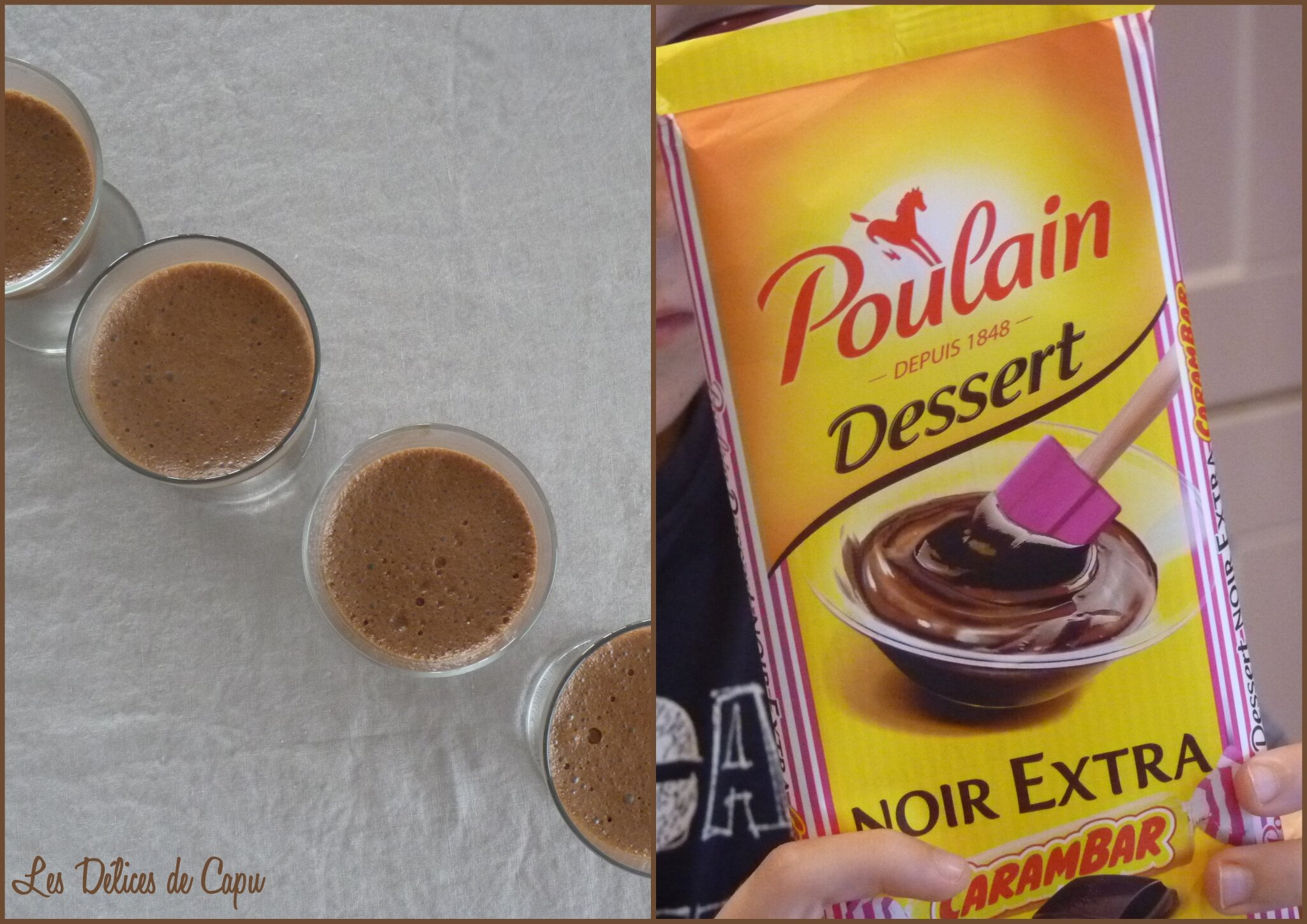 Mousses au chocolat carambar2