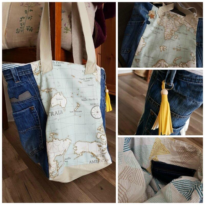 sac cabas jean