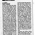 Un article dans le dauphine libere, ce matin. merci à son auteur, m. bouthier.