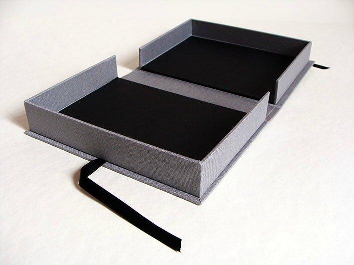 boite à chasses, boite livre, boite sur mesure, boite livre artiste, cartonnage