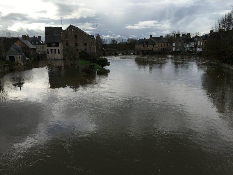 inondation crue 14 février 2016 Ducey Sélune bourg