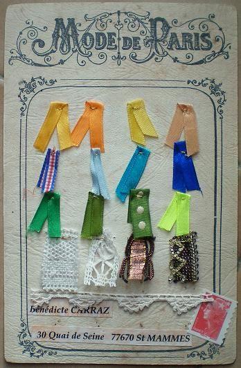 112~Dentelle, tissu, ruban pour Mouette