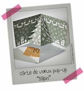 Des cartes de v ux pop up pour no l journal d 39 une fouineuse - Carte de voeux pop up ...