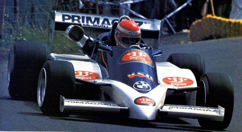 Anne Baverey au volant de son AGS TN 01 lors de la saison 1985