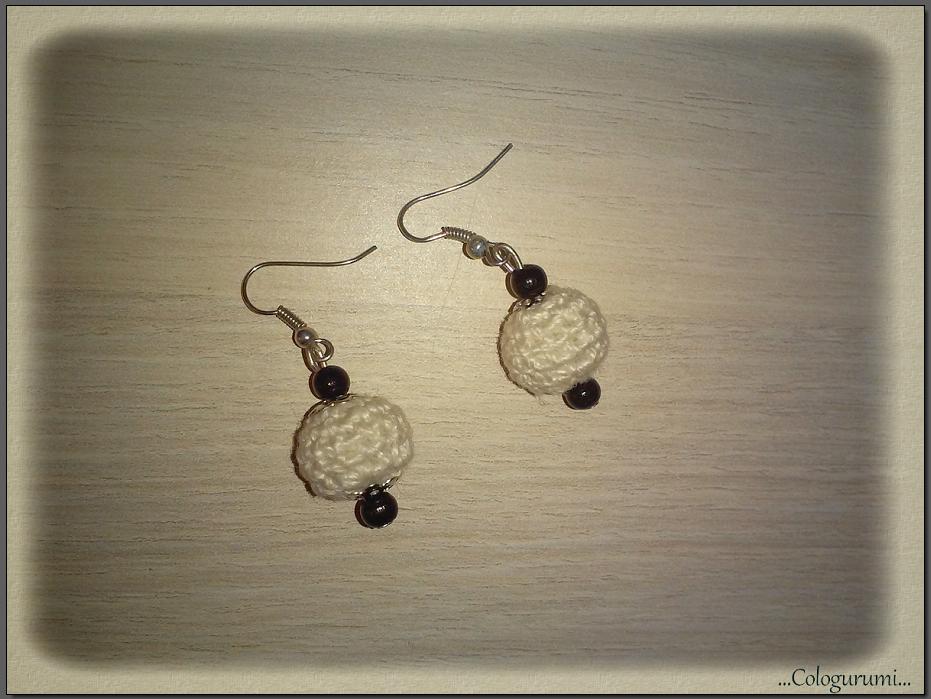Tuto crochet boucle d 39 oreille boule crochet e tout sur le crochet et les amigurumis - Tuto boucle d oreille perle ...
