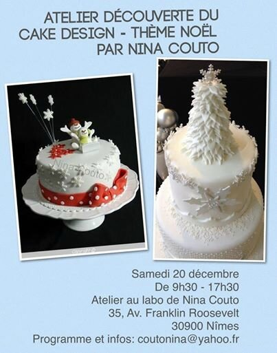 Atelier Cake Design Nancy : Atelier decouverte du cake Design - Theme No?l - Atelier ...