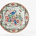 A 'famille-rose' plate, Qianlong period (1736-1795)