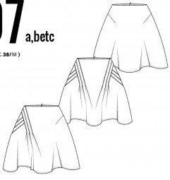 DP Studio - 407a-b-et-c-jupe-plisse-croise