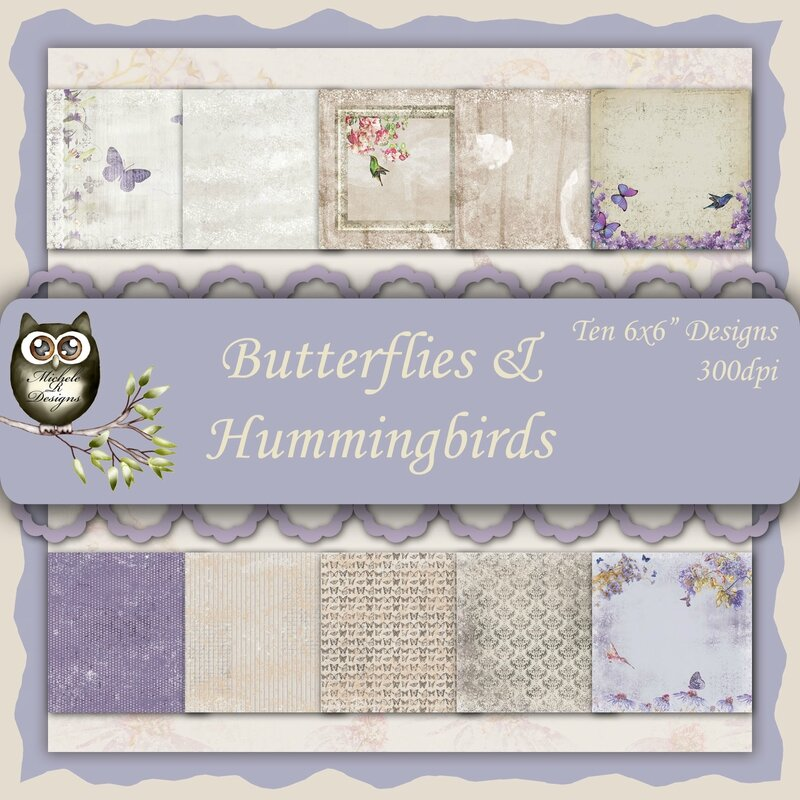 Butterflies & Hummingbirds Front Sheet