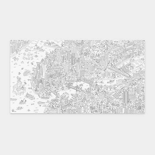 ColoringPoster_NYC_Giant