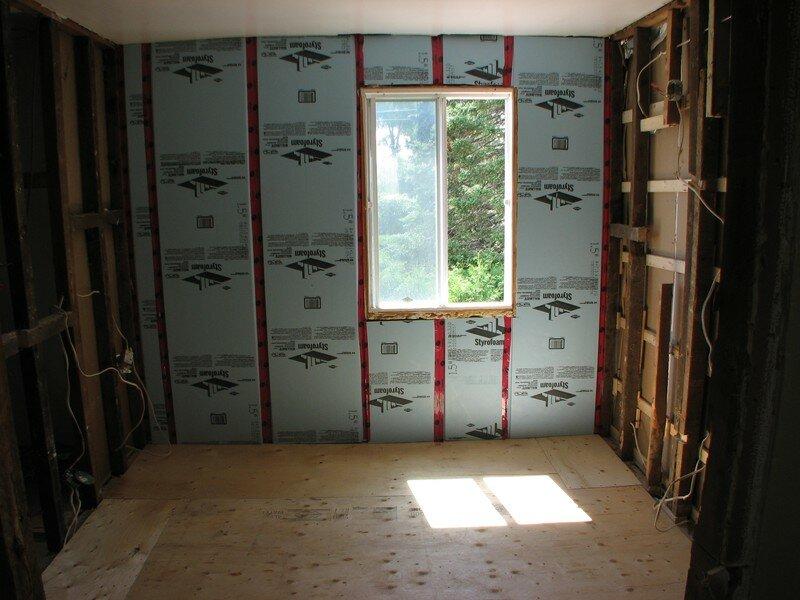 Plancher et isolant salle de bain travaux sous sol for Plancher salle de bain sous sol