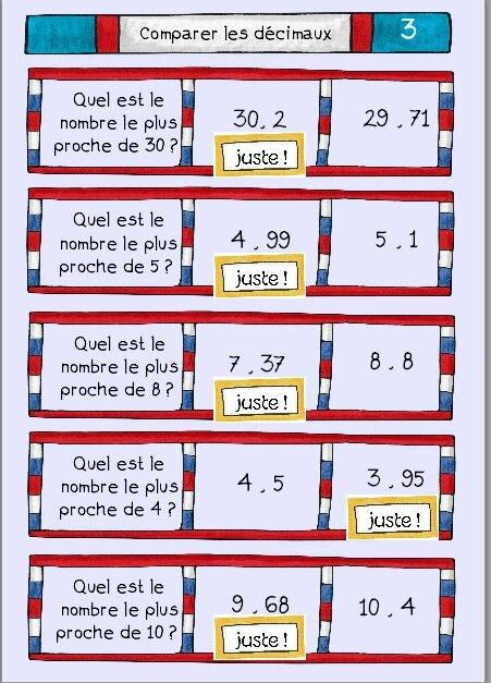 Comparer les d cimaux nombre le plus proche de deux choses l 39 une - Trouver le bureau de poste le plus proche ...