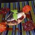 Sardines farcies et sa compotée de tomates