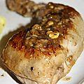 Cuisses de poulet à l'ail