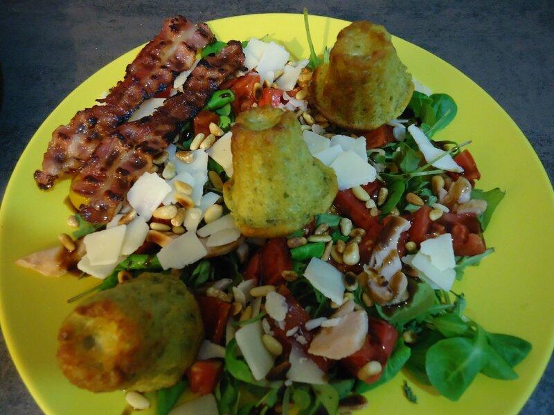 salade de cannelé au pesto 1
