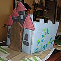 tapis de jeu chateau en feutrine fait main foldingo, handmade fold and go felt castlel play mat (7)