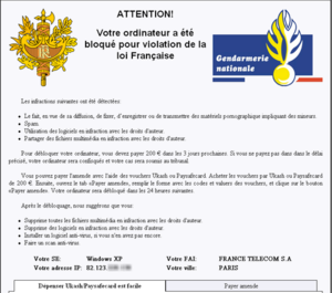 Faux-Virus-Gendarmerie