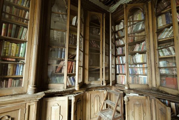 Berkyn Manor bibliotheque 1