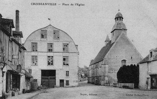Croissanville - la place de l'église