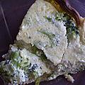 Tarte brousse et brocolis