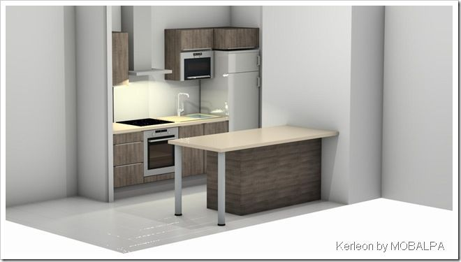 second projet de cuisine kerleon. Black Bedroom Furniture Sets. Home Design Ideas