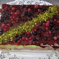 Gateau pistache bavarois aux fruits rouges