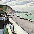 FAUVISME 1906_La plage de Fécamp_Marquet