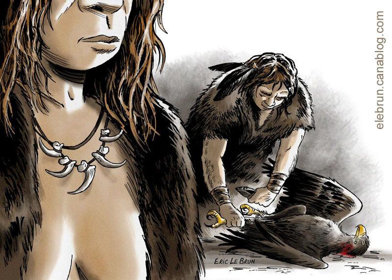 Neandertal Parure de serres de rapace