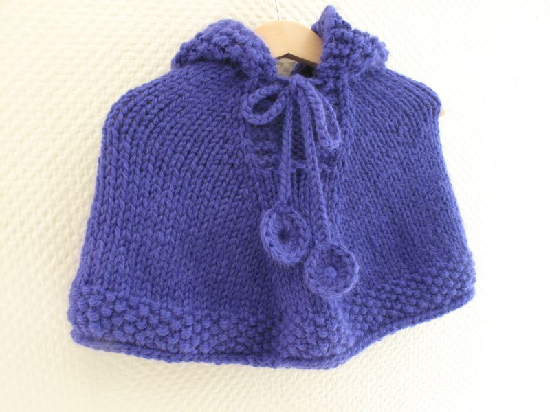 photo comment tricoter une cape pour bebe