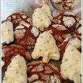 Biscuits de noël - velvet crinkles cookies