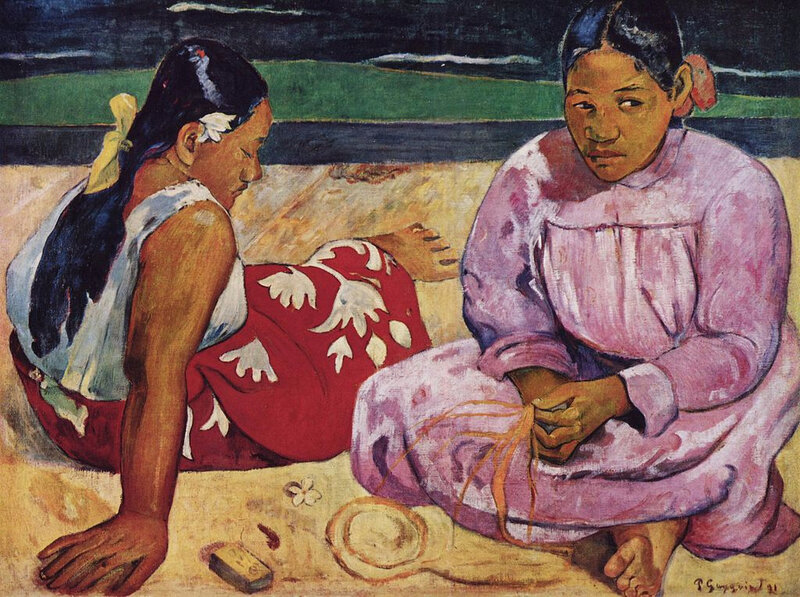 1891 - Femmes à la plage