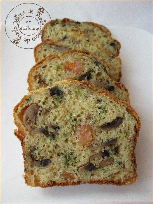 cake champignons - crevettes 2