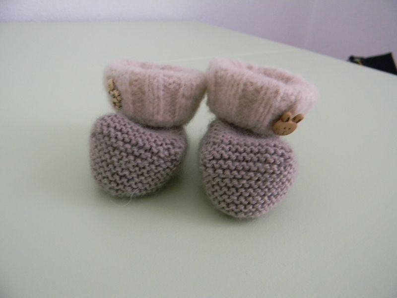 chaussons beige