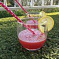 Citronnade à la fraise