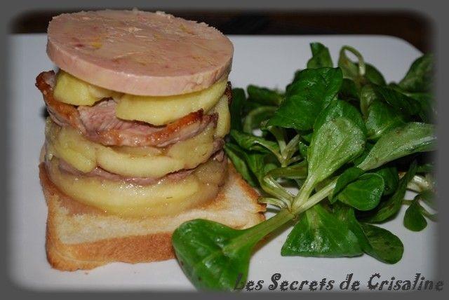 tatin de magret de canard au foie gras