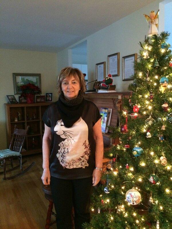 Lisette et un Triangular scarf