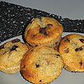 Muffins banane et nutella