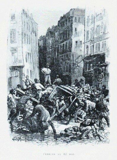 gravure émeute du 12 mai 1839
