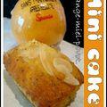 Mini cakes orange-miel-pavot