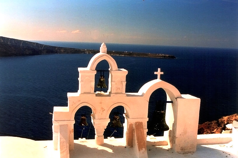 Chapelle orthodoxe à Oia