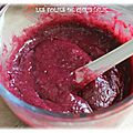 Fruits rouges mélangés curd