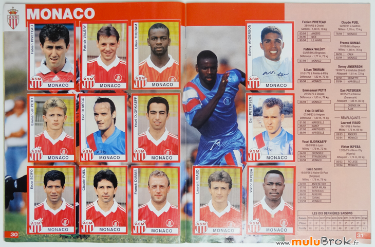 Album-panini-FOOTBALL-1995-6-Monaco-muluBrok