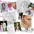 Mariage en rose - mariage en fuchsia - bijoux de mariée perles roses