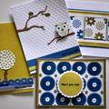 Serie de cartes MERCI avec Chrysalides stamps